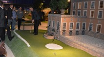 Playing adventure golf next to the Swedish Royal Castle