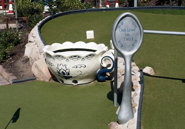 Large tea cup at Alton Towers Adventure Golf